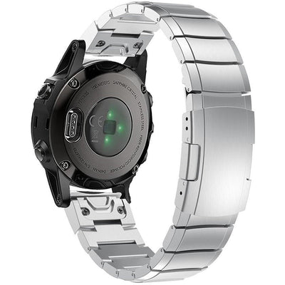 Silver Ceramic Stainless Steel Garmin Fenix 5S / Fenix 6S Band - OzStraps New Zealand