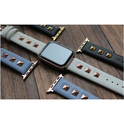 Rockstud Leather Apple Watch Band - OzStraps New Zealand