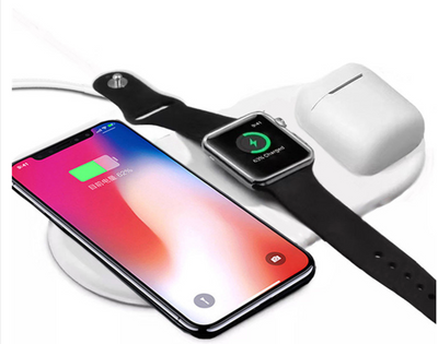 Apple Watch & iPhone & AirPods Fast Wireless Charging Pad - OzStraps New Zealand