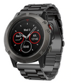 Black Classic Stainless Steel Garmin Fenix 5X / Fenix 6X Band - OzStraps New Zealand