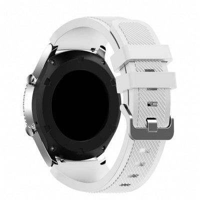 White Silicone Samsung Gear S3 Band