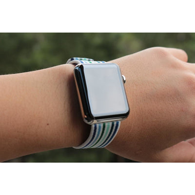 Striped & Chequered Woven Nylon Apple Watch Band - OzStraps New Zealand