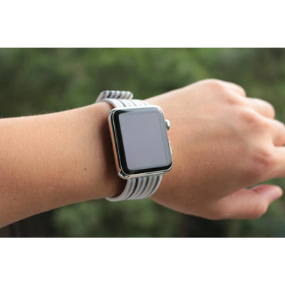 Striped & Chequered Woven Nylon Apple Watch Band