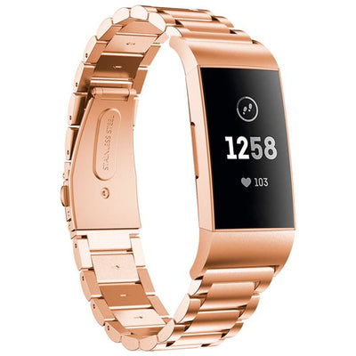 Classic Stainless Steel Fitbit Charge 3 Bands - OzStraps New Zealand