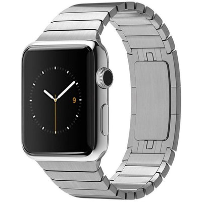Silver Ceramic Stainless Steel Apple Watch Band - OzStraps New Zealand