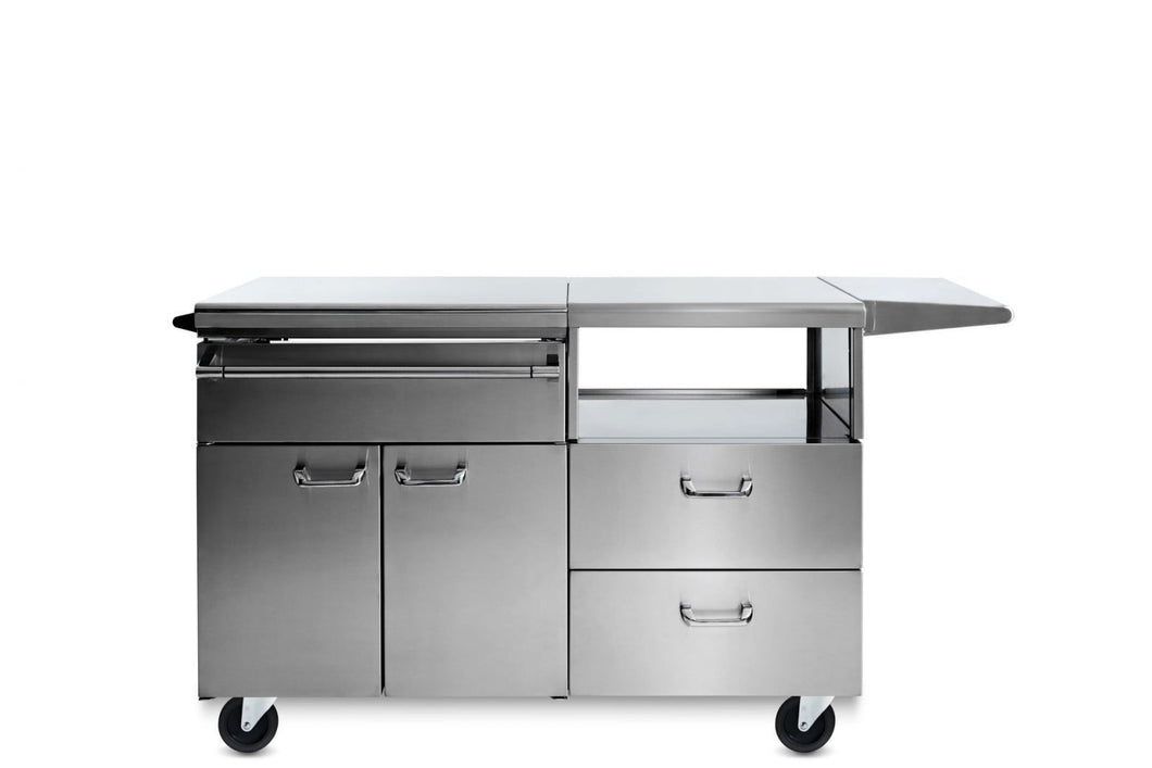 Lynx Serve & Prep Countertop on Mobile Kitchen Cart