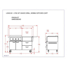"Load image into Gallery viewer, Lynx 30"" Asado Grill on Mobile Kitchen Cart"
