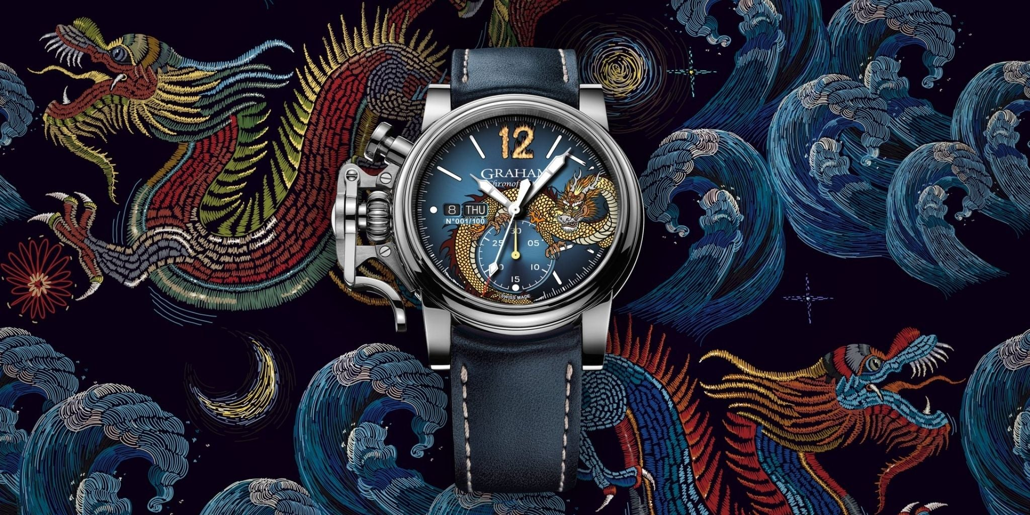 Graham Chronofighter Vintage Blue Dragon Limited Editions