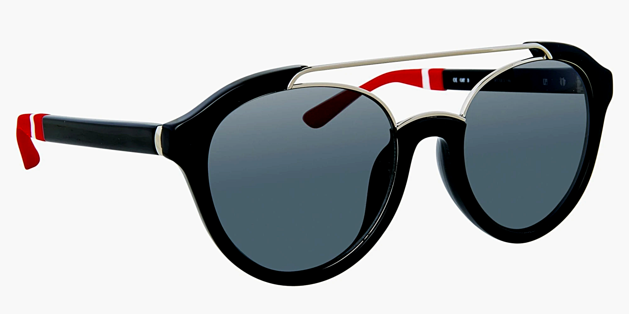 Orlebar Brown Sunglasses Oval Red Black and Grey