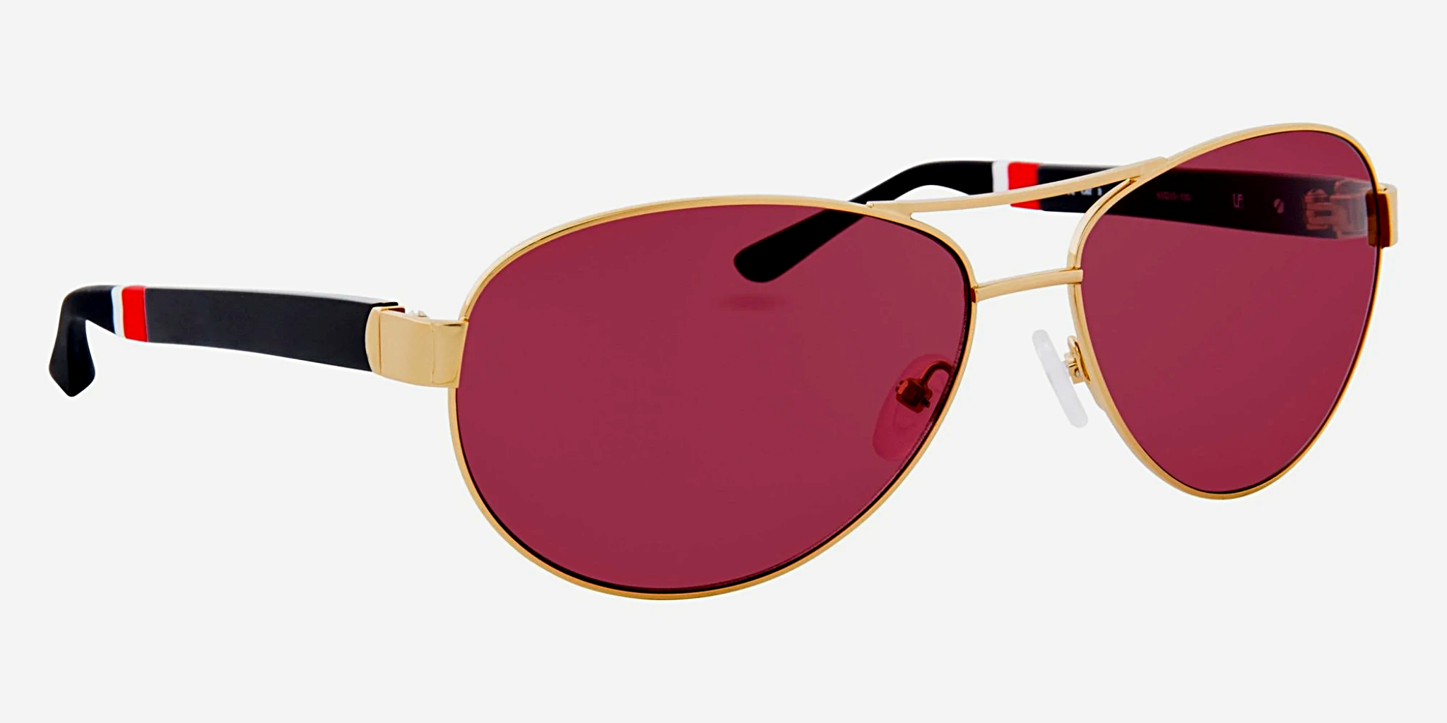 Orlebar Brown Sunglasses Yellow Gold and Purple