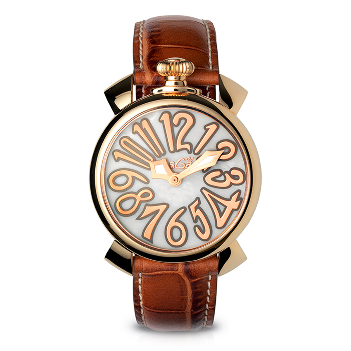 GaGà Milano Manuale 40MM Rose Gold Brown