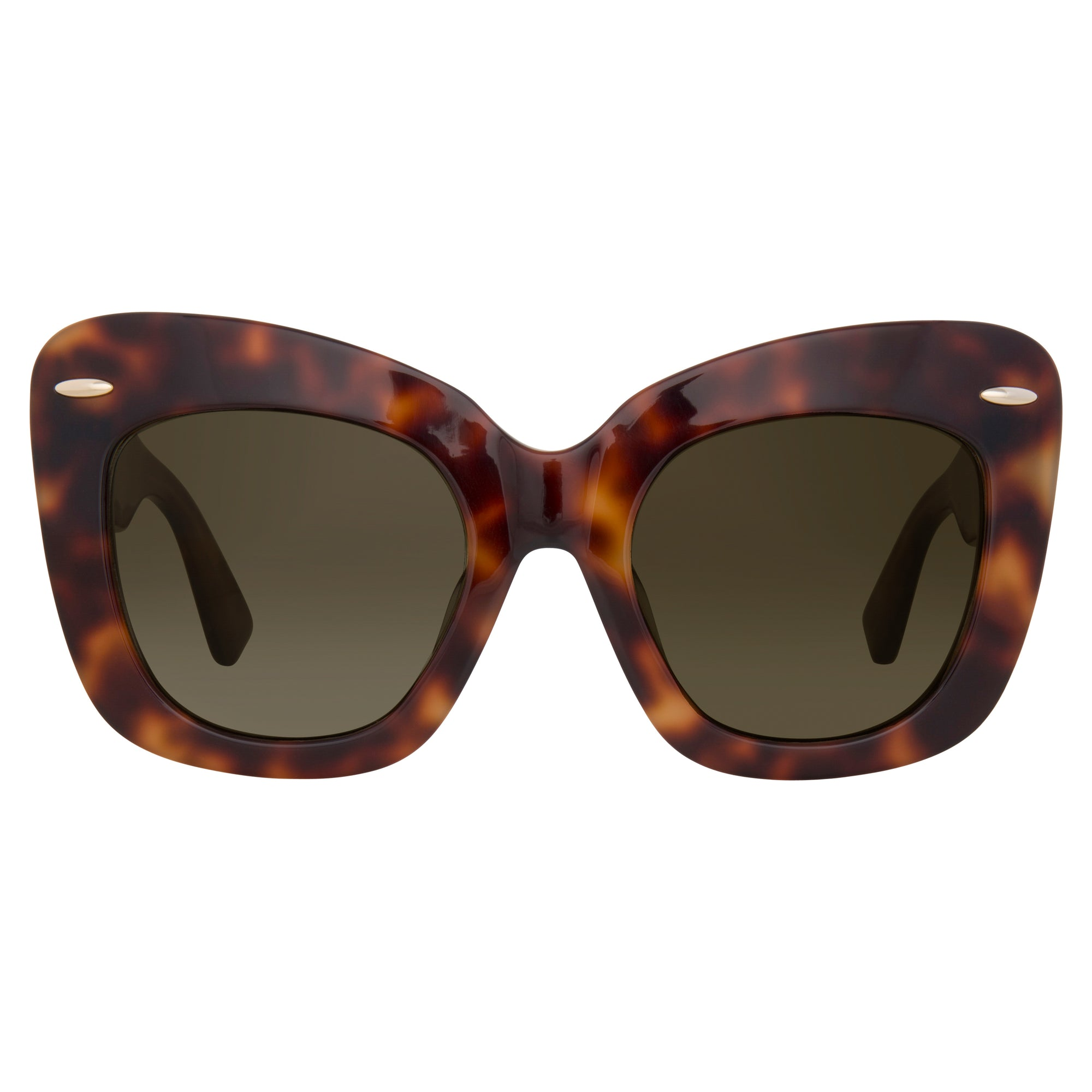 Erdem Sunglasses Cat Eye Tortoise Shell and Grey