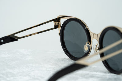 Erdem Sunglasses Cat Eye Light Gold and Black