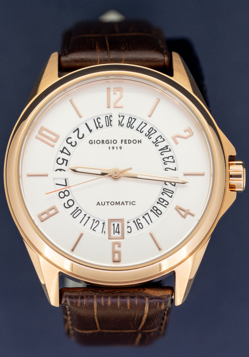 Giorgio Fedon Automatic Men's Watch PAU IP Rose Gold GFAU007