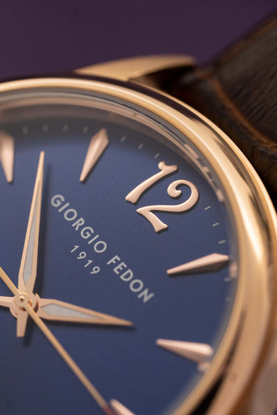 Giorgio Fedon PAT Blue IP Rose Gold