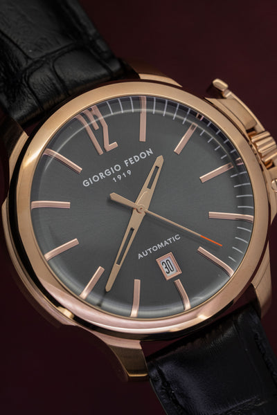 Giorgio Fedon Timeless VI Black Rose Gold