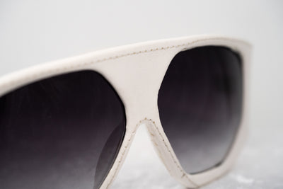 Jeremy Scott Sunglasses D-Frame White and Grey