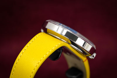 Klokers Heritage Blue Dial Yellow Leather