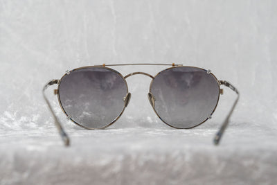 Kris Van Assche Sunglasses Oval Silver and Grey Graduated