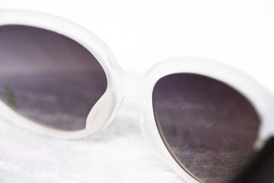 Oscar De La Renta Sunglasses Oval Ivory and Grey