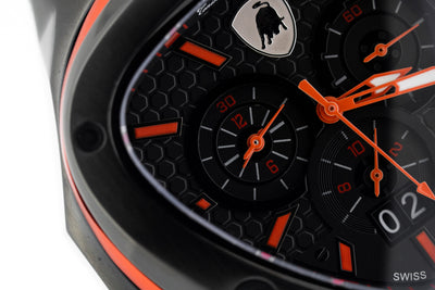 Tonino Lamborghini Spyder X Chronograph Watch Date Red