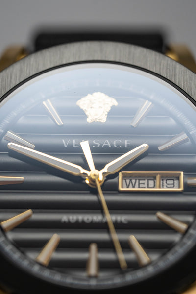 Versace Theros Day Date Black PVD