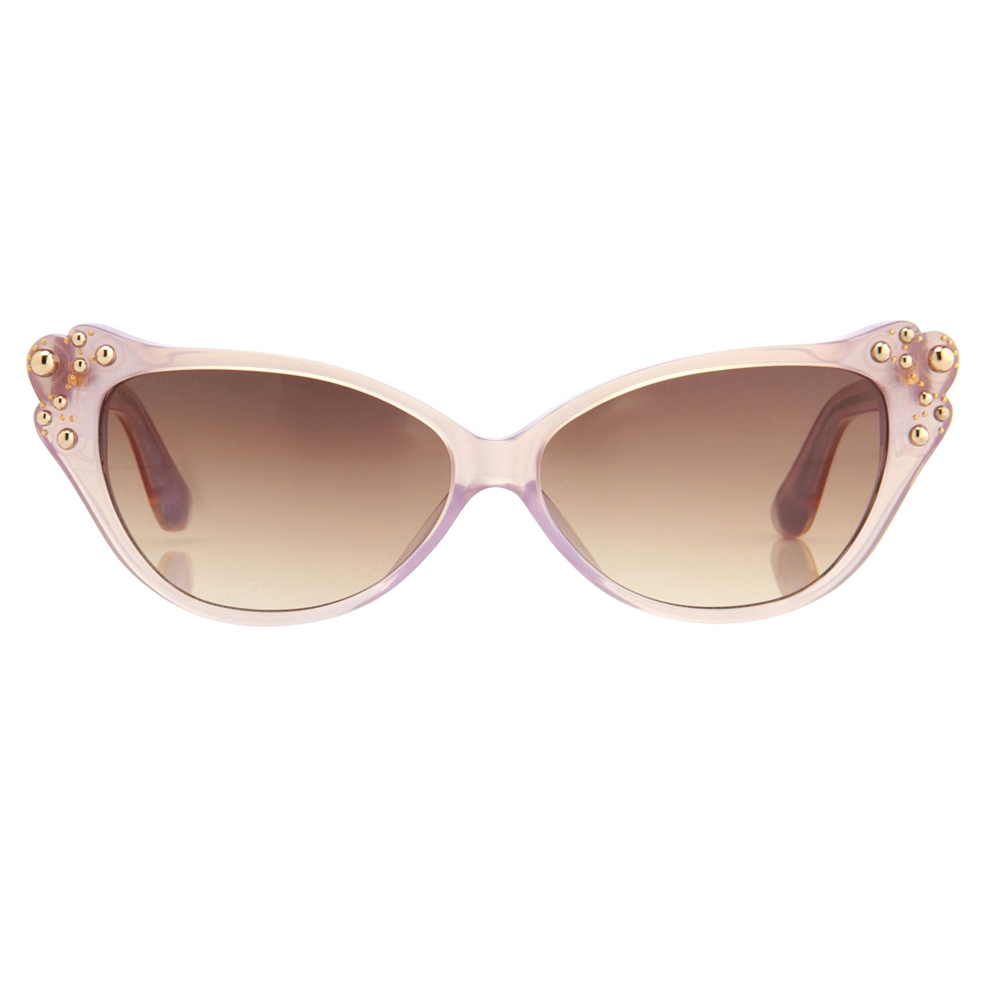 Agent Provocateur Sunglasses Cat Eye Beige and Brown - Watches & Crystals