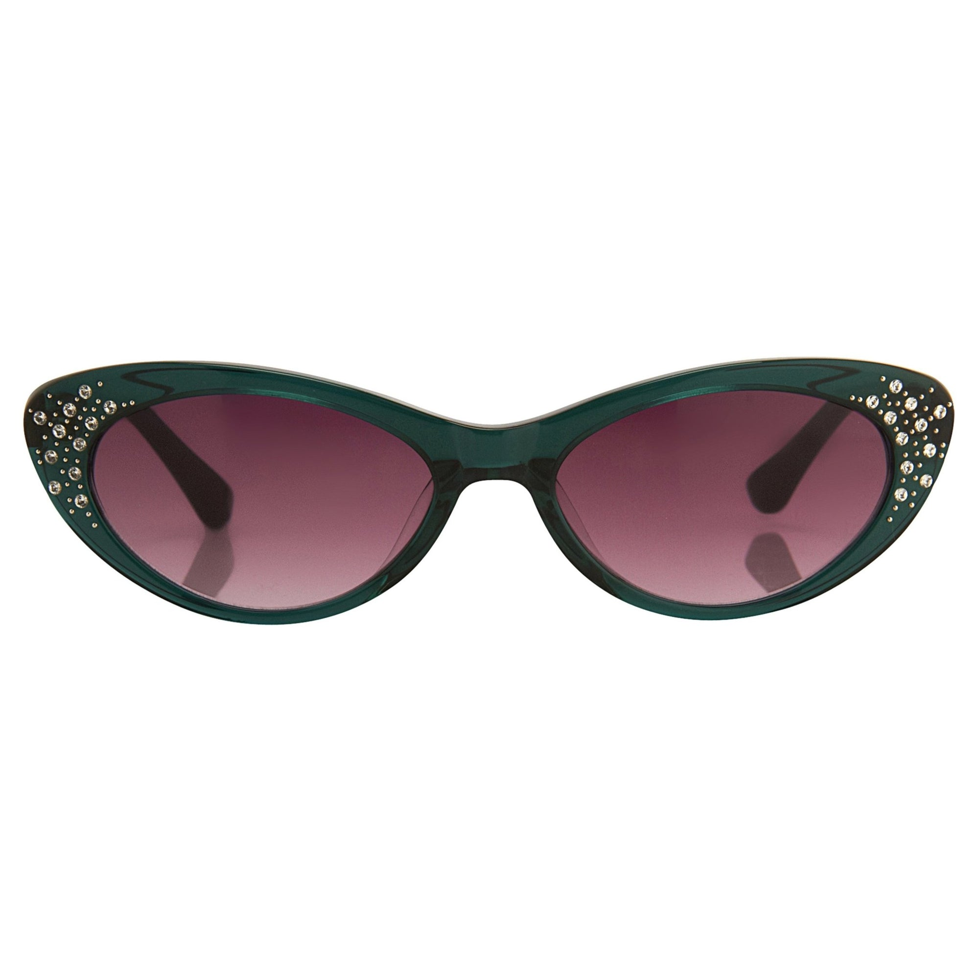 Agent Provocateur Sunglasses Cat Eye Green and Burgundy