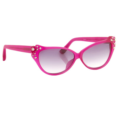 Agent Provocateur Sunglasses Cat Eye Pink and Grey Lenses - AP55C6SUN - Watches & Crystals