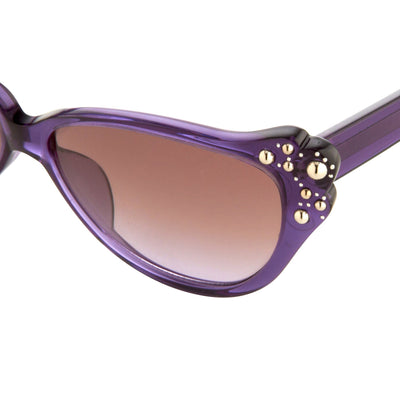 Agent Provocateur Sunglasses Cat Eye Purple and Brown Lenses - AP55C11OPT - Watches & Crystals
