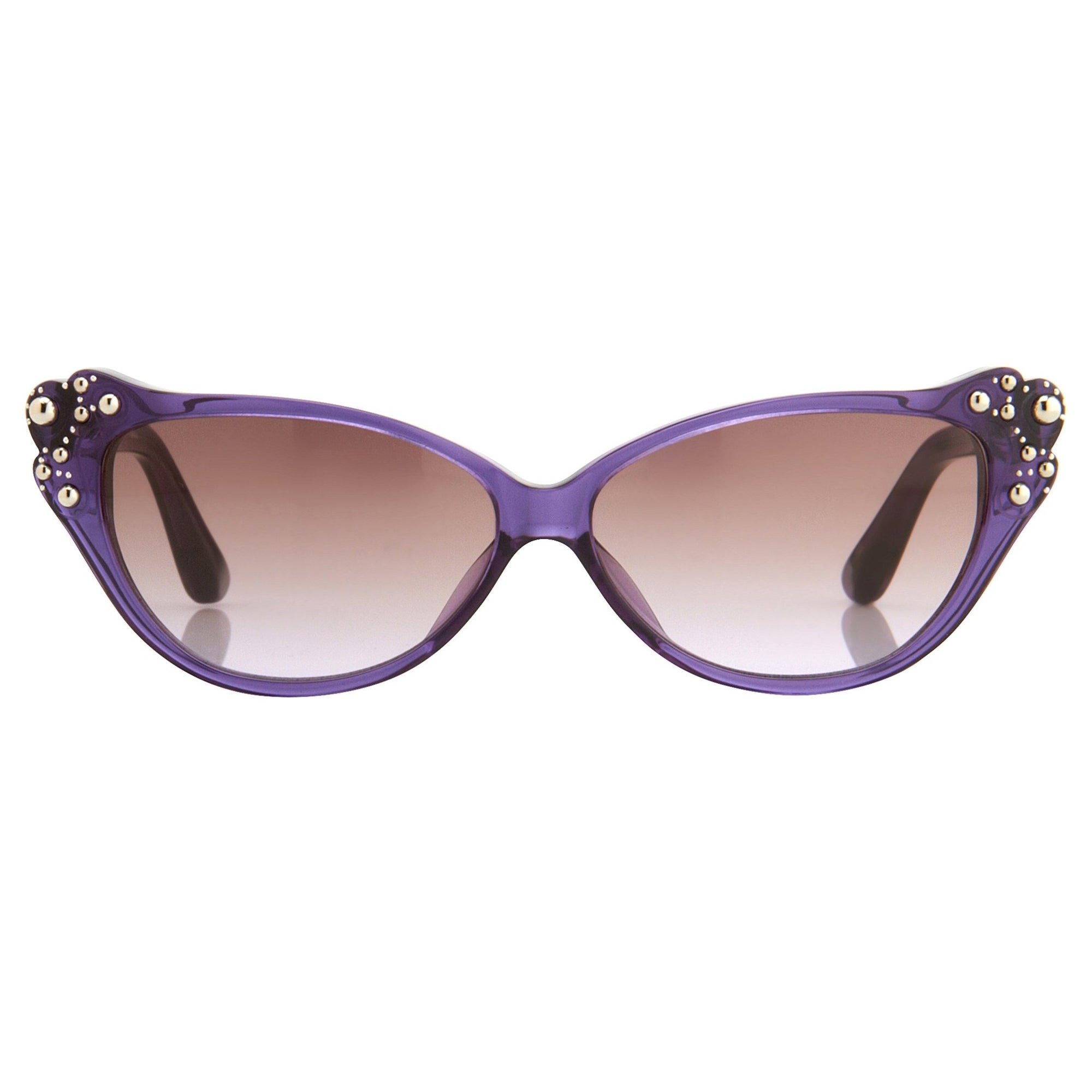 Agent Provocateur Sunglasses Cat Eye Purple and Brown