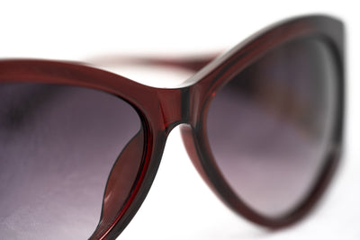 Agent Provocateur Sunglasses Oversized Frame Burgundy and Grey Lenses Category 3 - AP17C3SUN - Watches & Crystals