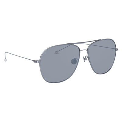 Ann Demeulemeester Men Sunglasses Titanium 925 Silver with Silver Mirror Lenses AD48C2SUN - Watches & Crystals