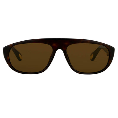 Ann Demeulemeester Sunglasses Amber Tortoise Shell tone 925 Silver with Brown Lenses Category 3 Dark Tint AD1C4SUN - Watches & Crystals