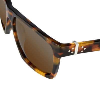 Ann Demeulemeester Sunglasses Angular Tortoise Shell 925 Silver Category 3 AD37C2SUN - Watches & Crystals