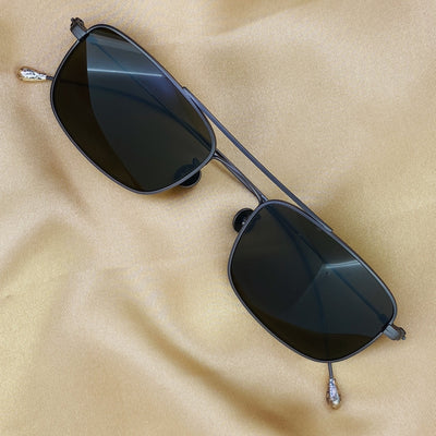 Ann Demeulemeester Sunglasses Antique Silver 925 Silver with Brown Lenses Category 3 Dark Tint AD46C3SUN - Watches & Crystals