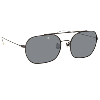 Ann Demeulemeester Sunglasses Brushed Gun Metal Silver 925 Silver with Grey Lenses CAT3 AD63C2SUN - Watches & Crystals