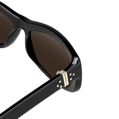 Ann Demeulemeester Sunglasses Cat Eye Black 925 Silver with Grey Lenses Category 3 Dark Tint AD29C1SUN - Watches & Crystals