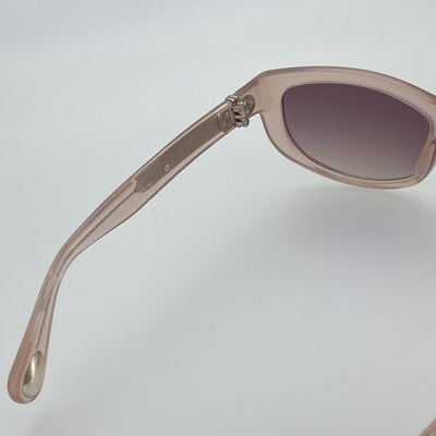 Ann Demeulemeester Sunglasses Cat Eye Blush Pink 925 Silver with Brown Lenses AD29C5SUN - Watches & Crystals