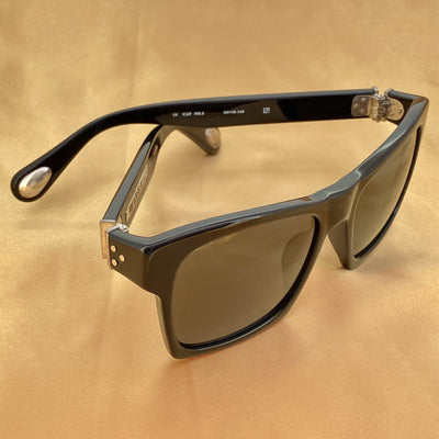 Ann Demeulemeester Sunglasses D-Frame Black 925 Silver with Grey Lenses AD3C1SUN - Watches & Crystals