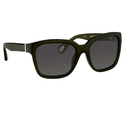 Ann Demeulemeester Sunglasses D-Frame Green 925 Silver with Green Graduated Lenses Category 3 AD9C7SUN - Watches & Crystals