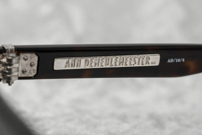 Ann Demeulemeester Sunglasses Flat Top Amber Tortoise Shell 925 Silver with Brown Lenses Category 3 AD10C4SUN - Watches & Crystals