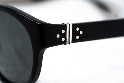 Ann Demeulemeester Sunglasses Flat Top Black 925 Silver with Grey Lenses Category 3 AD10C1SUN - Watches & Crystals