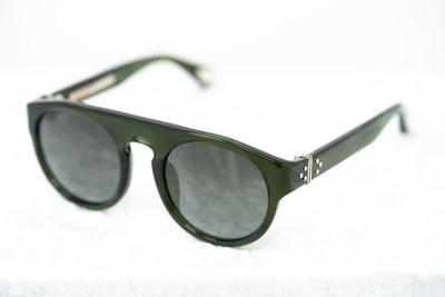 Ann Demeulemeester Sunglasses Flat Top Green 925 Silver with Green Gradient Lenses Category 3 AD10C7SUN - Watches & Crystals