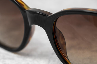 Ann Demeulemeester Sunglasses Oval Black & Tortoise Shell 925 Silver with Brown Graduated Lenses Category 3 AD8C6SUN - Watches & Crystals