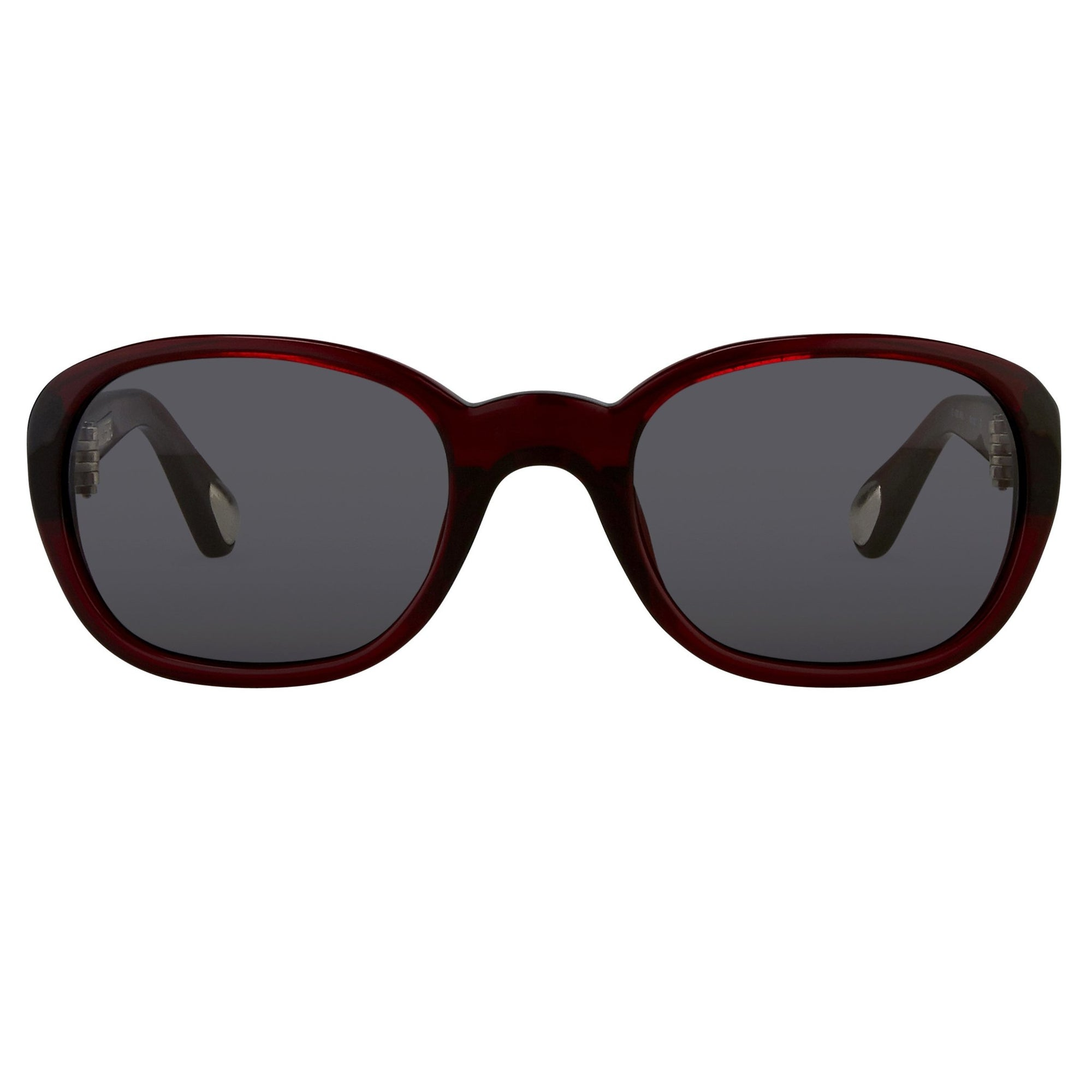 Ann Demeulemeester Sunglasses Oval Bordeaux Red 925 Silver with Blue Lenses Category 2 AD8C3SUN - Watches & Crystals