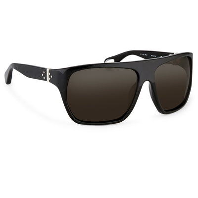 Ann Demeulemeester Sunglasses Oversized Black 925 Silver with Grey Lenses CAT3 AD31C1SUN - Watches & Crystals