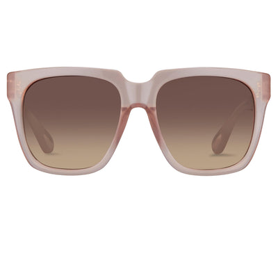 Ann Demeulemeester Sunglasses Oversized Blush Pink with Brown Lenses 925 Silver AD21C5SUN - Watches & Crystals
