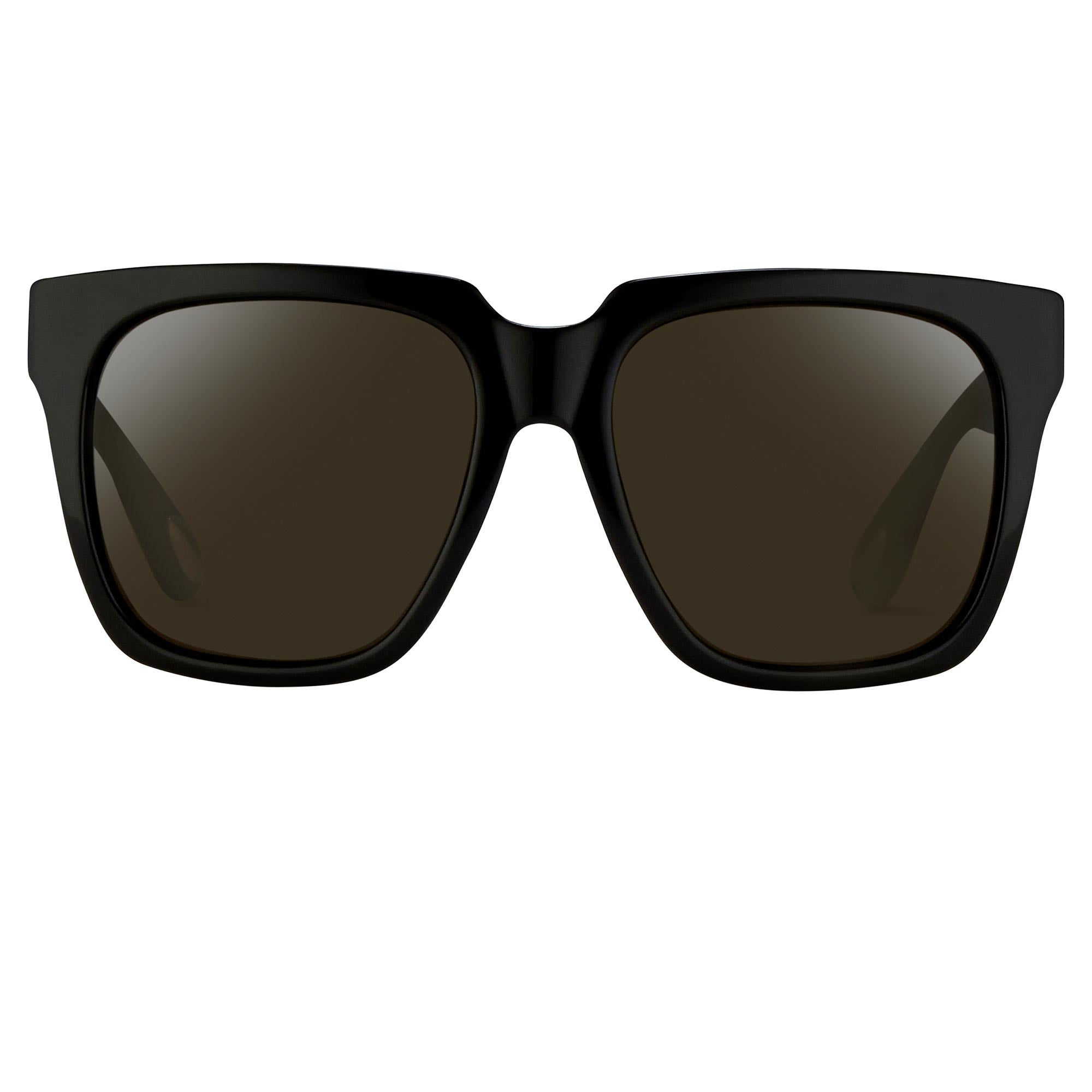 Ann Demeulemeester Sunglasses Oversized Matte Black with Grey Lenses Category 4 Dark Tint 925 Silver AD21C1SUN - Watches & Crystals