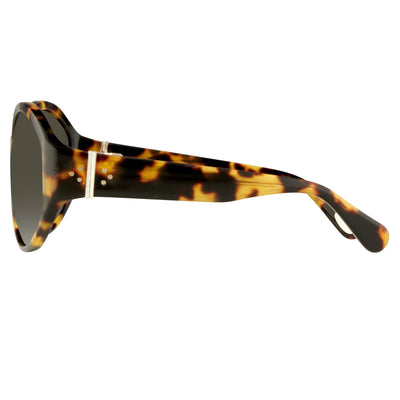Ann Demeulemeester Sunglasses Oversized Tortoise Shell 925 Silver with Grey Lenses CAT3 AD6C2SUN - Watches & Crystals
